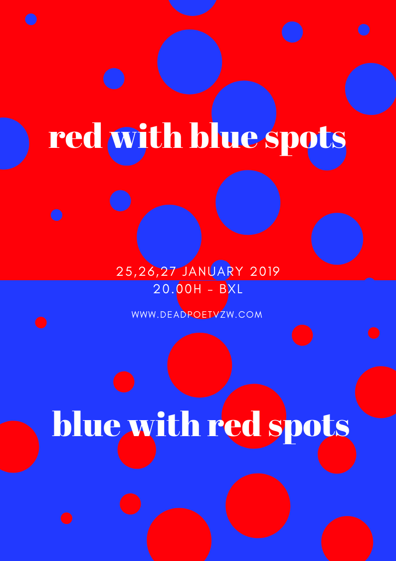 Red with Blue Spots / Blue with Red Spots